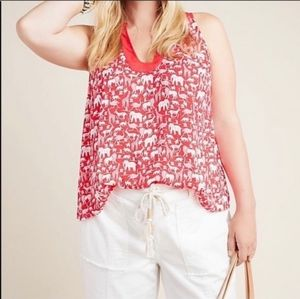 Anthropologie Maeve printed blouse BNWT